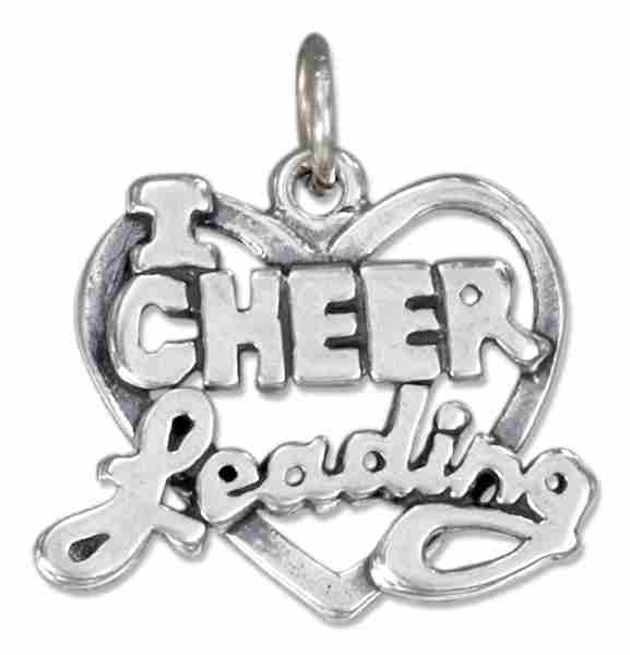 """I Love Cheerleading"" Charm"