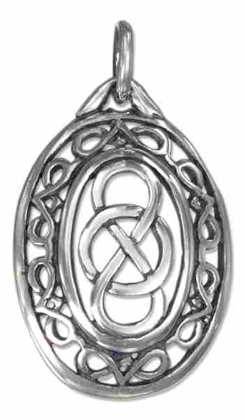 -Antiqued-Oval-Charm-With-Celtic-Infinity-Knot-And-KnotWORK-Border    Oval Celtic Knot Border