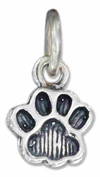 Small Dog Or Cat Pawprint Charm