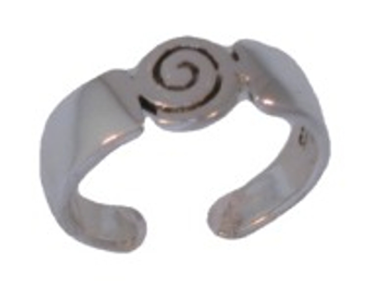 Unique Archimedes Spiral Adjustable Toe Ring