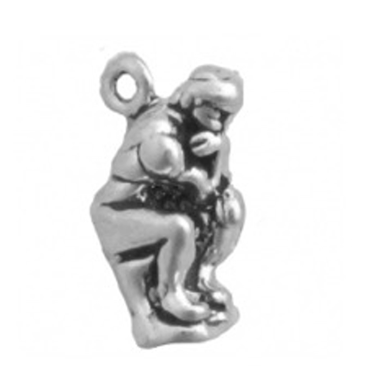 3D Auguste Rodin's The Thinker Or The Poet Statue Charm