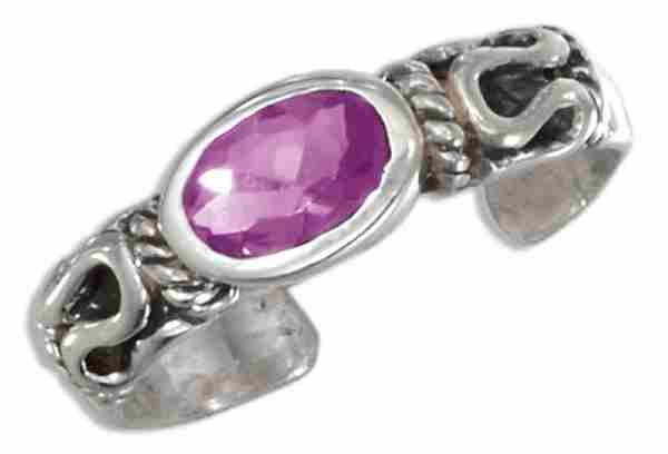 Amethyst Toe Rings