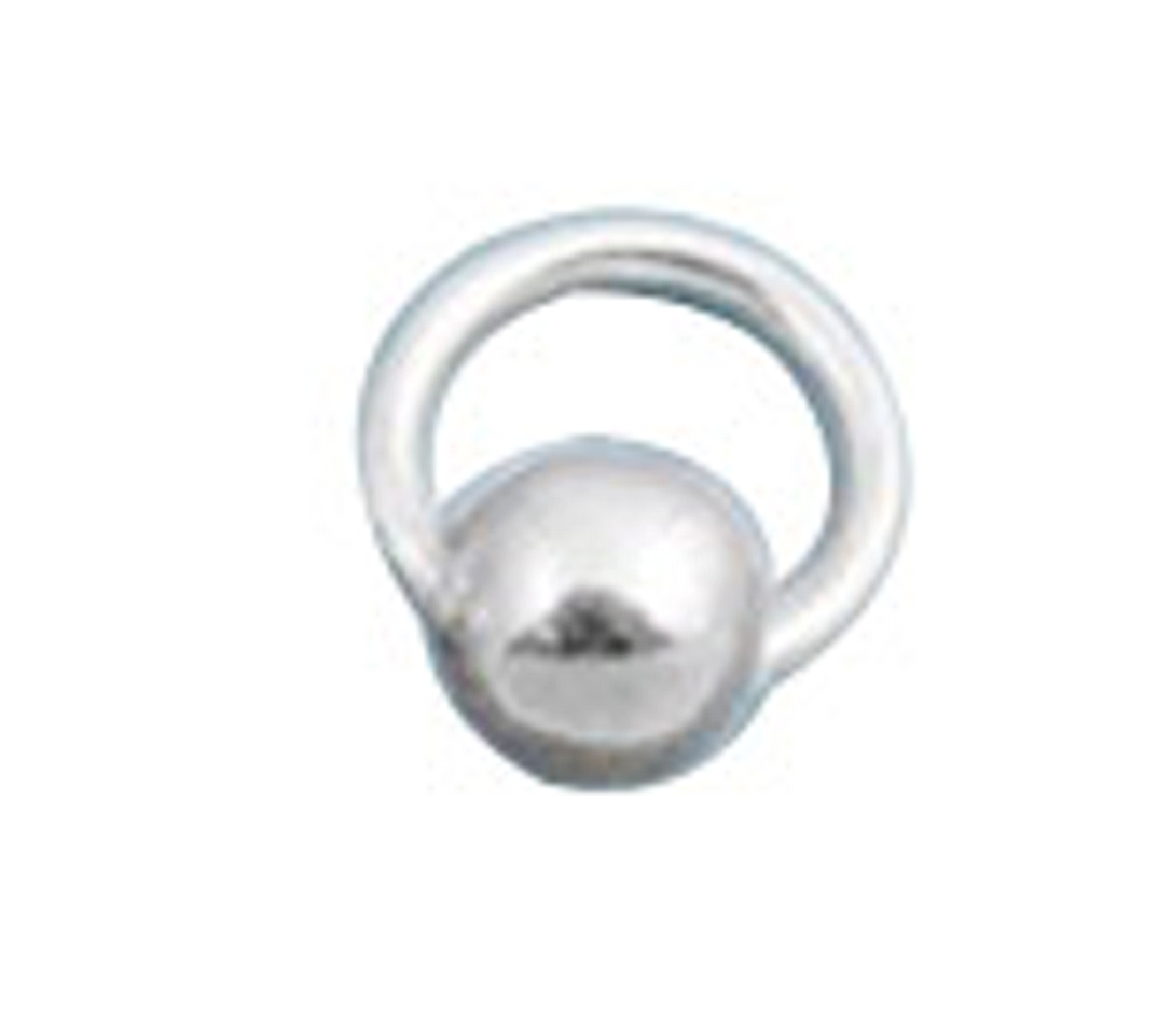 8mm Pierced Ball Charm Wire Band Nose Ring