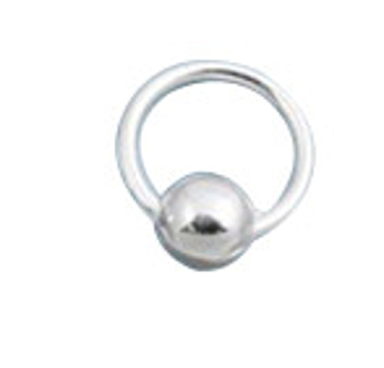 10mm Pierced Ball Charm Wire Band Nose Ring