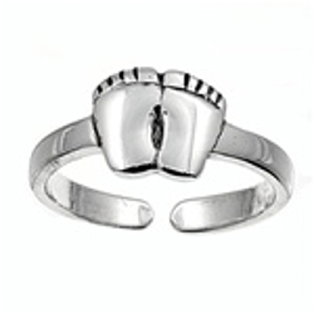 Bare Feet Foot Prints Adjustable Toe Ring