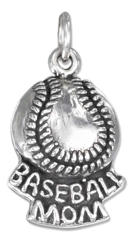 Baseball Mom Word Charm