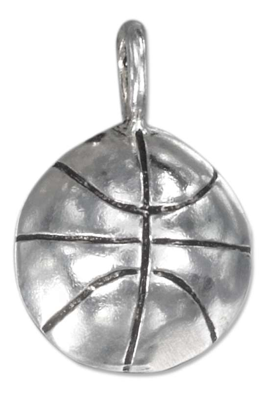 3D Half Sided Basketball Pendant