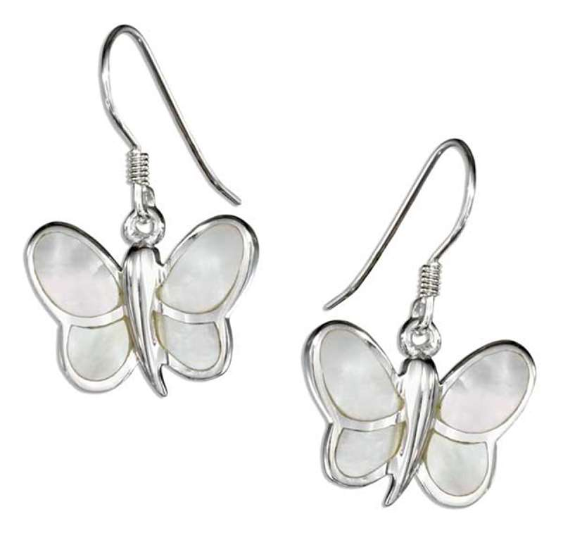 Butterfly Mother Of Pearl Wings Earrings