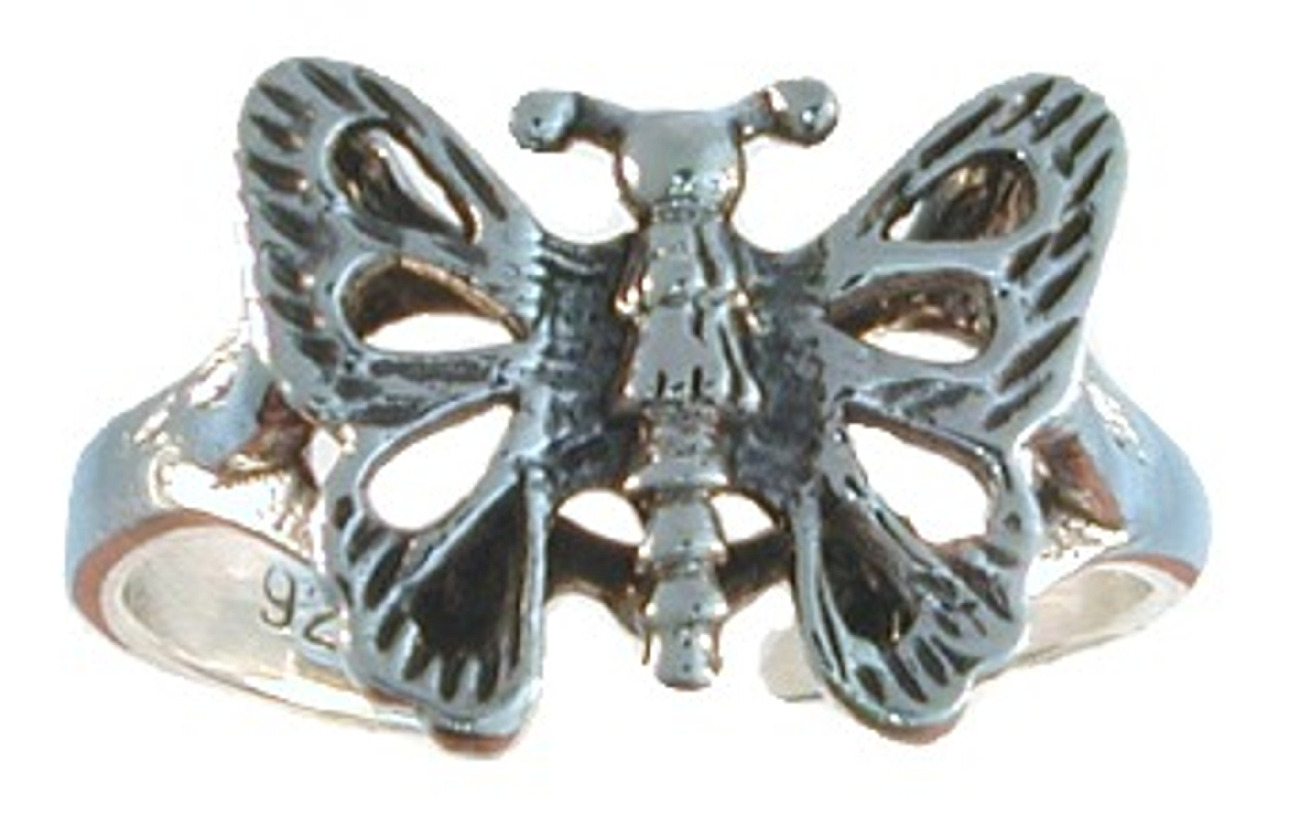 Adjustable Butterfly Toe Ring With Cutout Wings