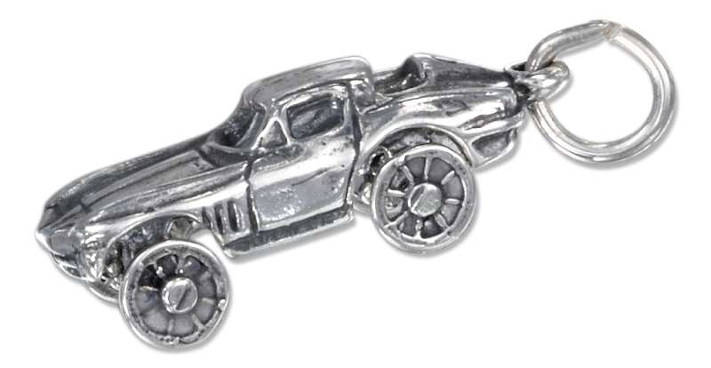 3D Two Door Sports Car Charm