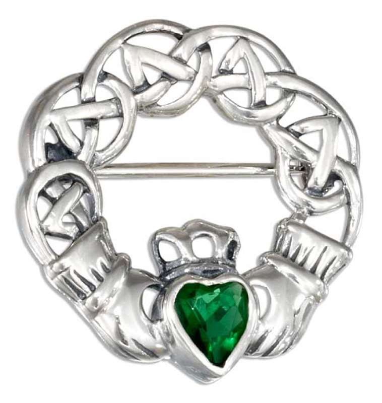 Claddagh Brooch Pin