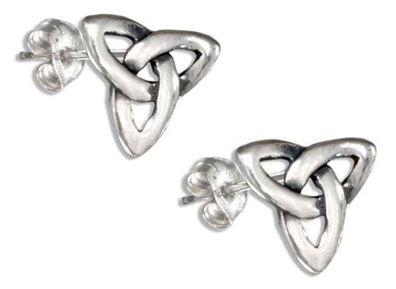 Celtic Trinity Knot Post Earrings