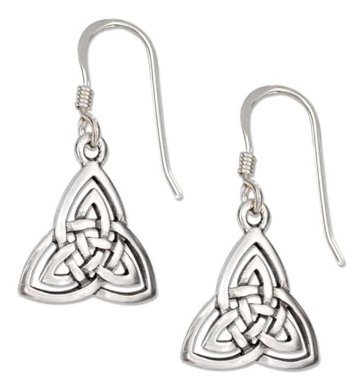 Celtic Trinity Knot Dangle Earrings