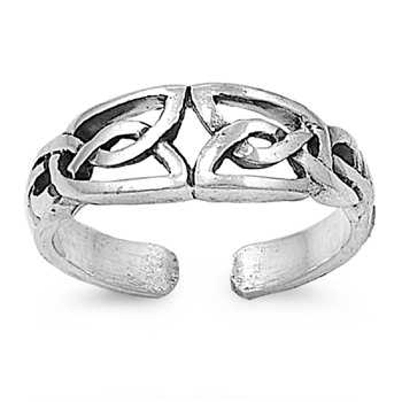 Celtic Weave Knot Adjustable Toe Ring