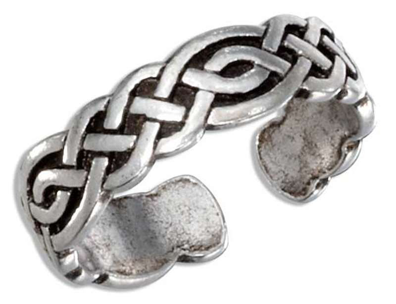 Irish Celtic Closed Weave Adjustable Toe Ring