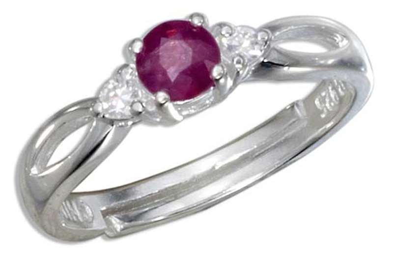 Ruby Cubic Zirconia Marquise Ring