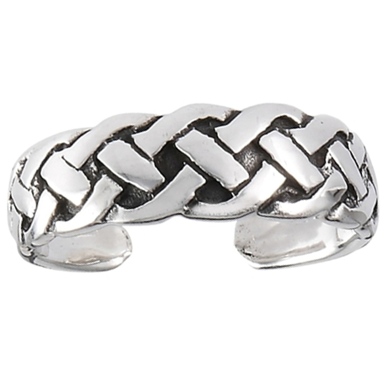 Celtic Closed Weave Adjustable Toe Ring
