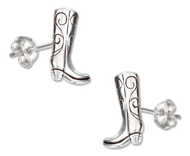 Cowboy Boot Post Earrings