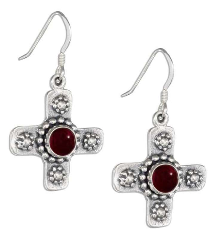 Christian Religious Cross Dangle Earrings