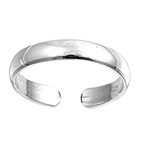 3mm Plain Band Adjustable Toe Ring