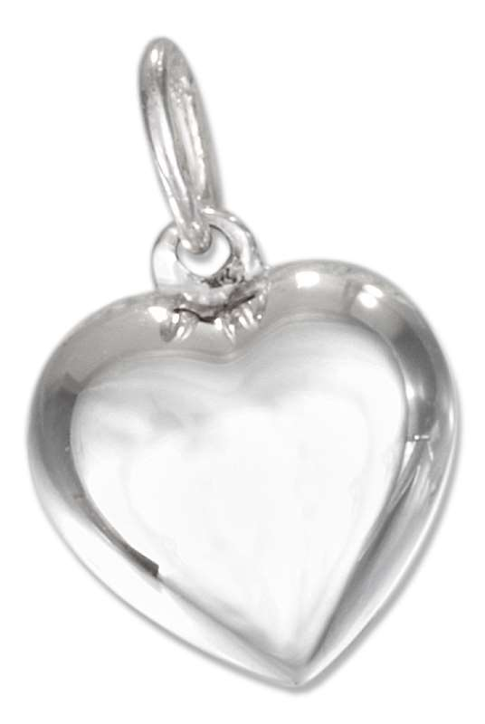 Small Dainty 3D Puffed Heart Charm