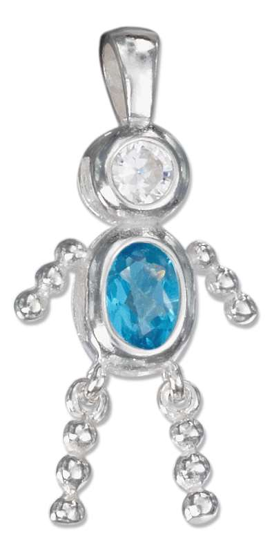 December Birthstone Brat Child Baby Boy Charm Pendant