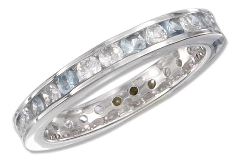 December Birthstone Eternity Ring
