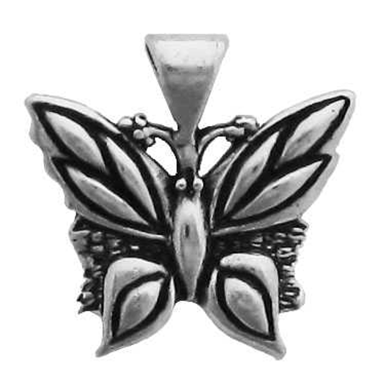 Small Detailed Butterfly Pendant