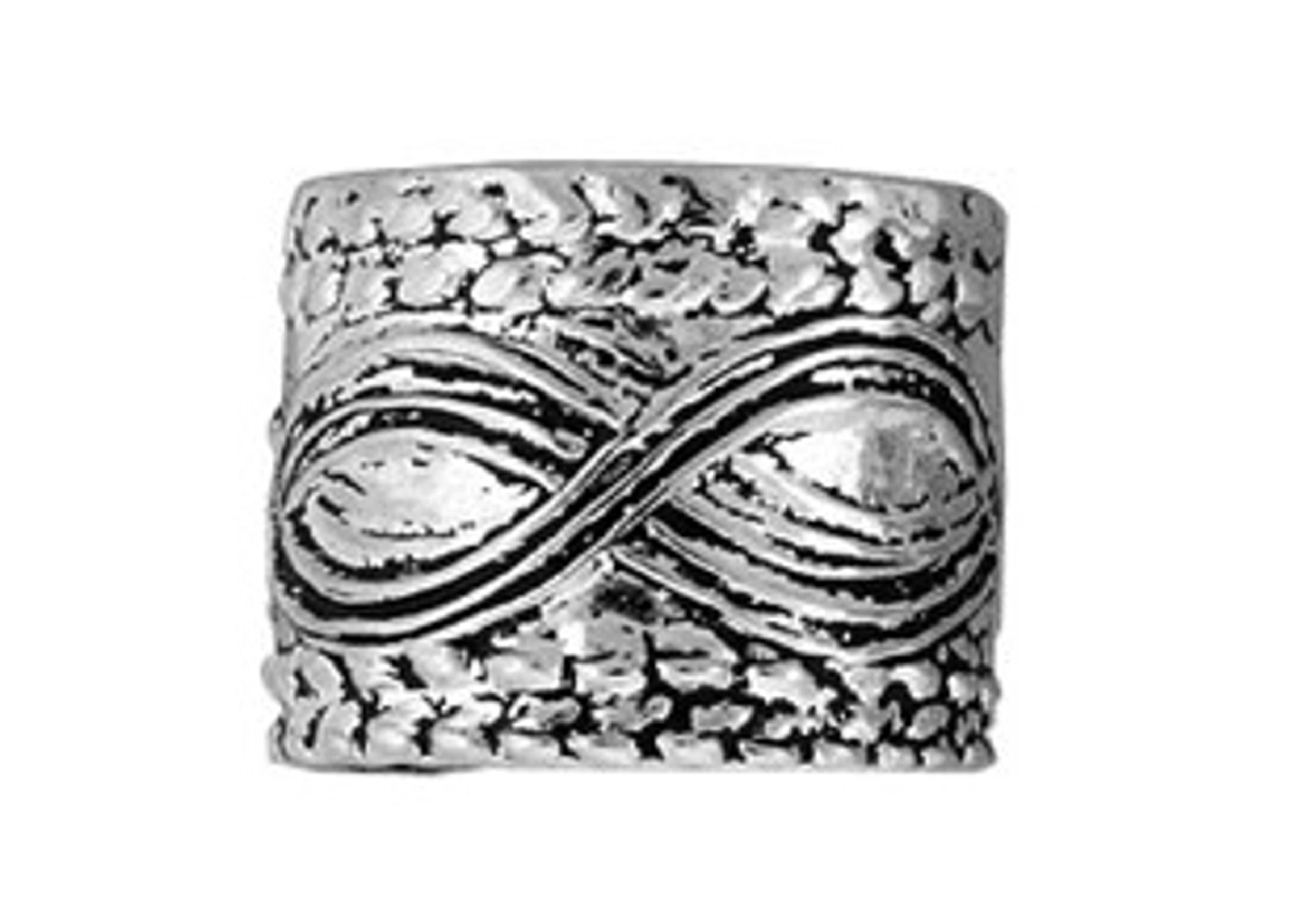 Detailed Coin Edge With Rolling Waves Middle Ear Cuff Band