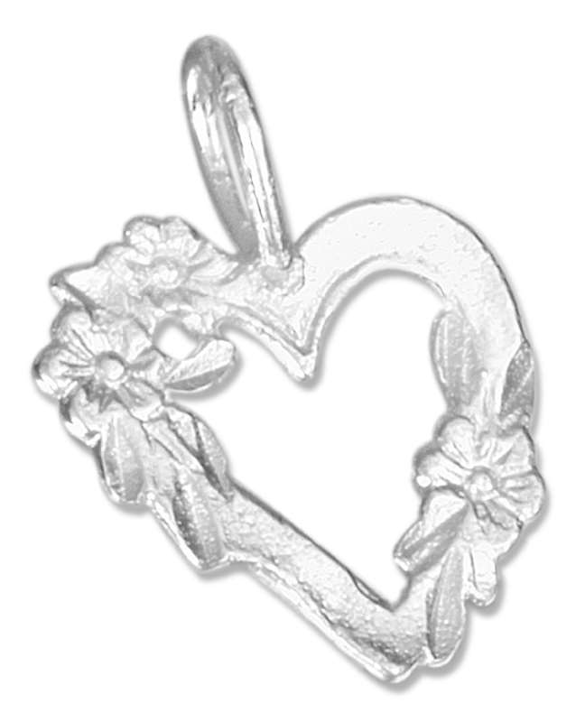 Heart Wrapped Flowers Pendant