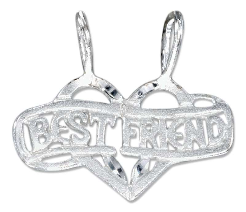 """BEST FRIEND"" Two Piece Shareable Pendant"