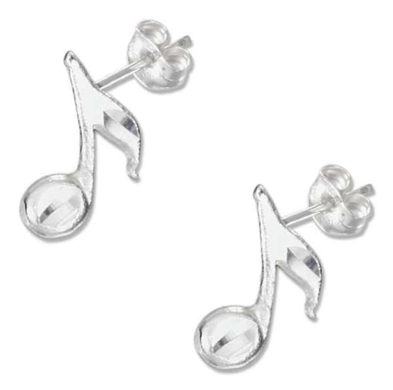 Musical Note Post Earrings