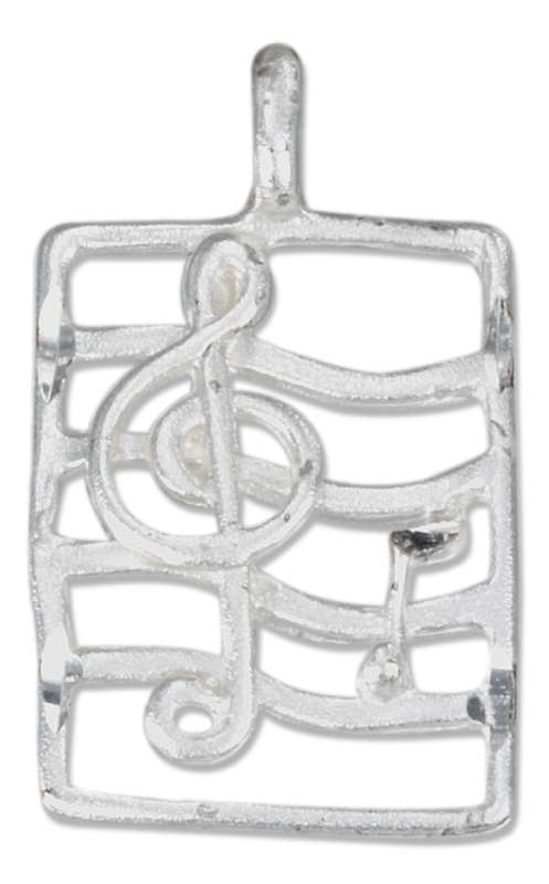 Trebel Clef Notes On Music Staff Stave Pendant
