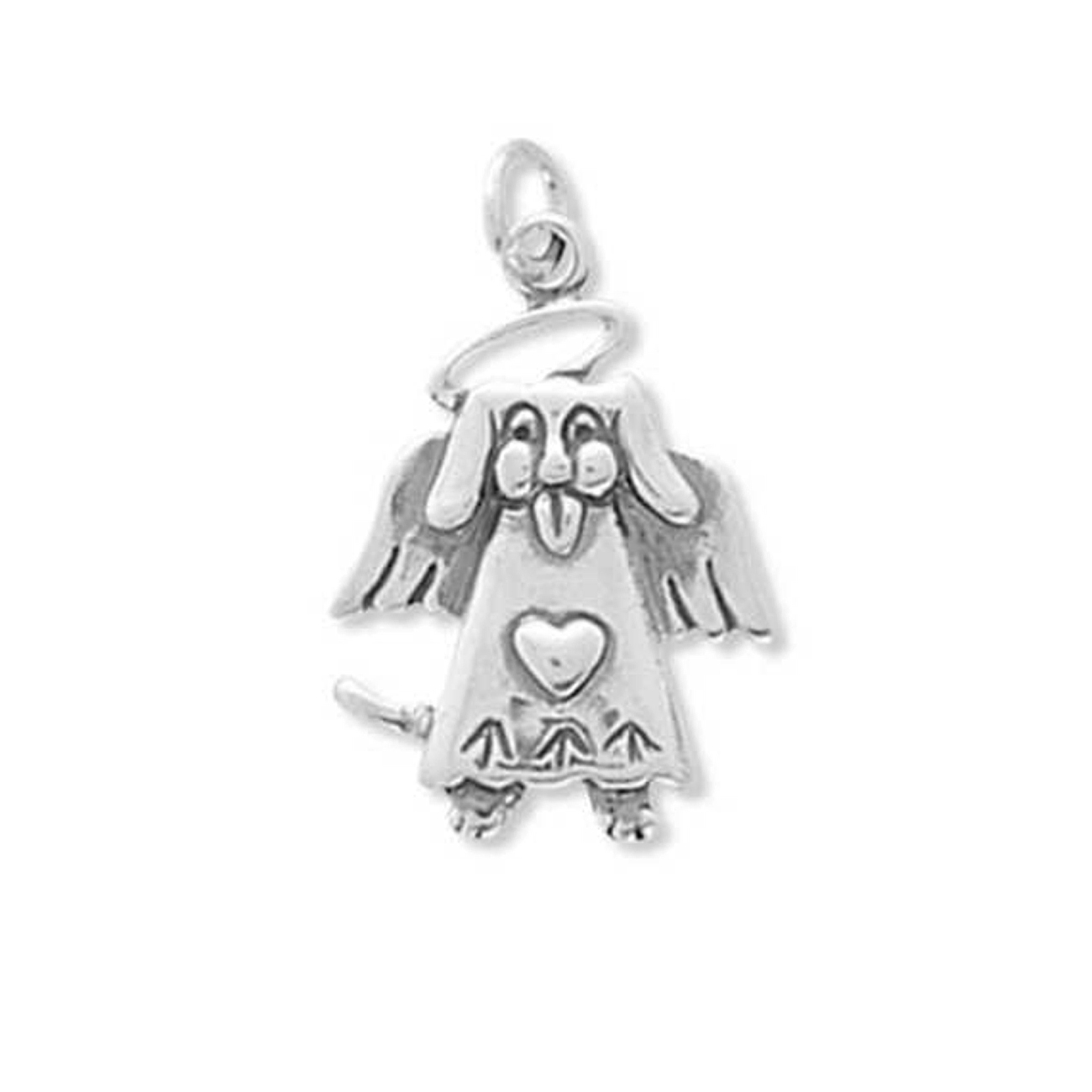Puppy Dog Angel Charm