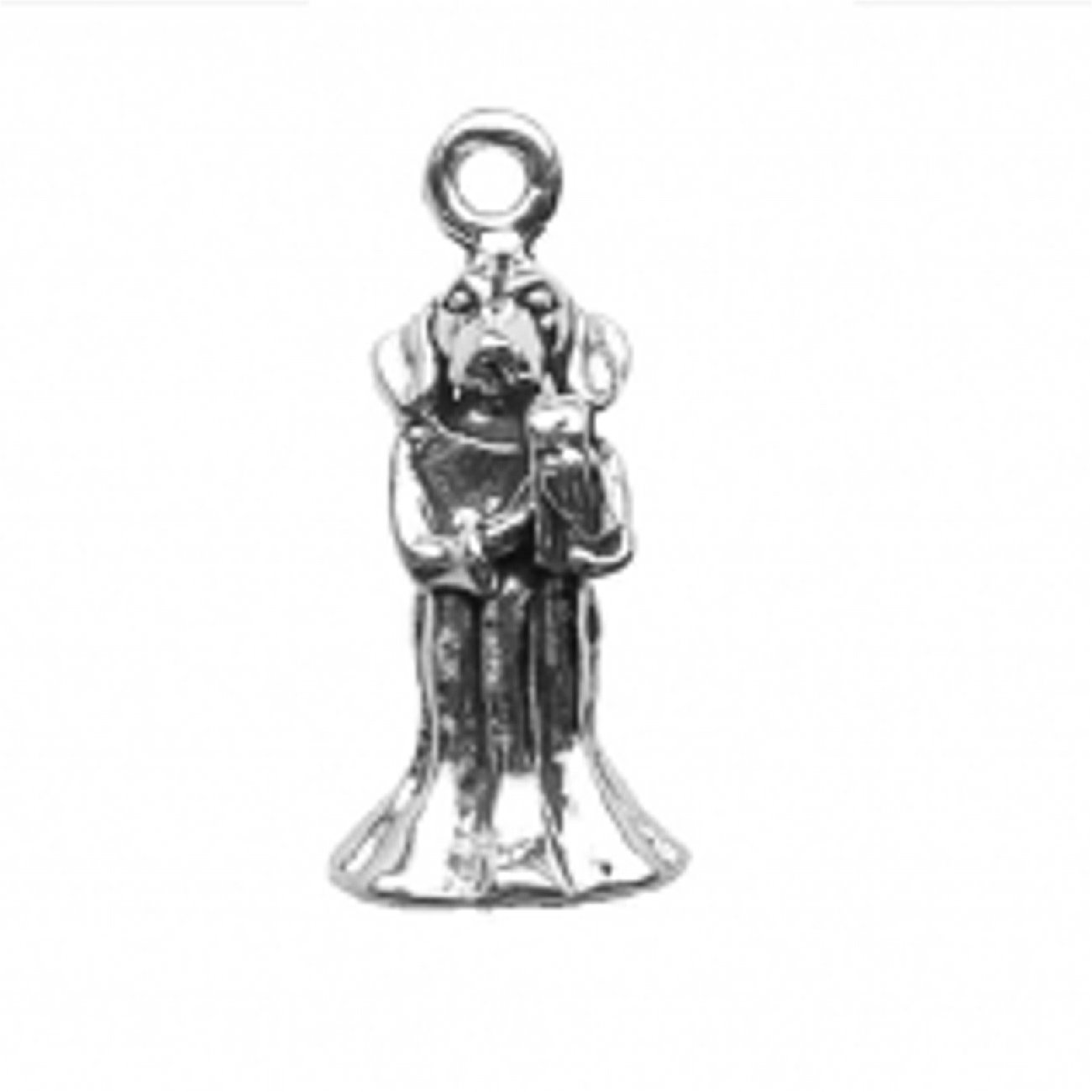 3D Dog Angel Charm Holding A Harp