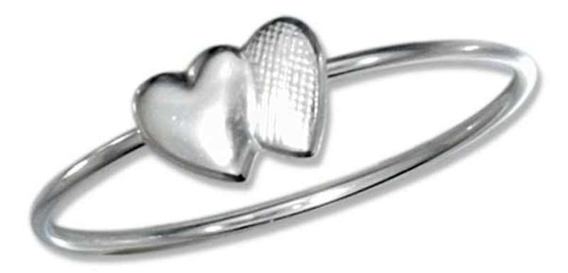 Lightweight Two 2 Double Hearts In Love Ring