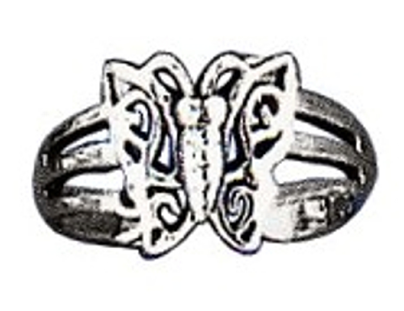 Double Split Shank Open Butterfly Adjustable Toe Ring