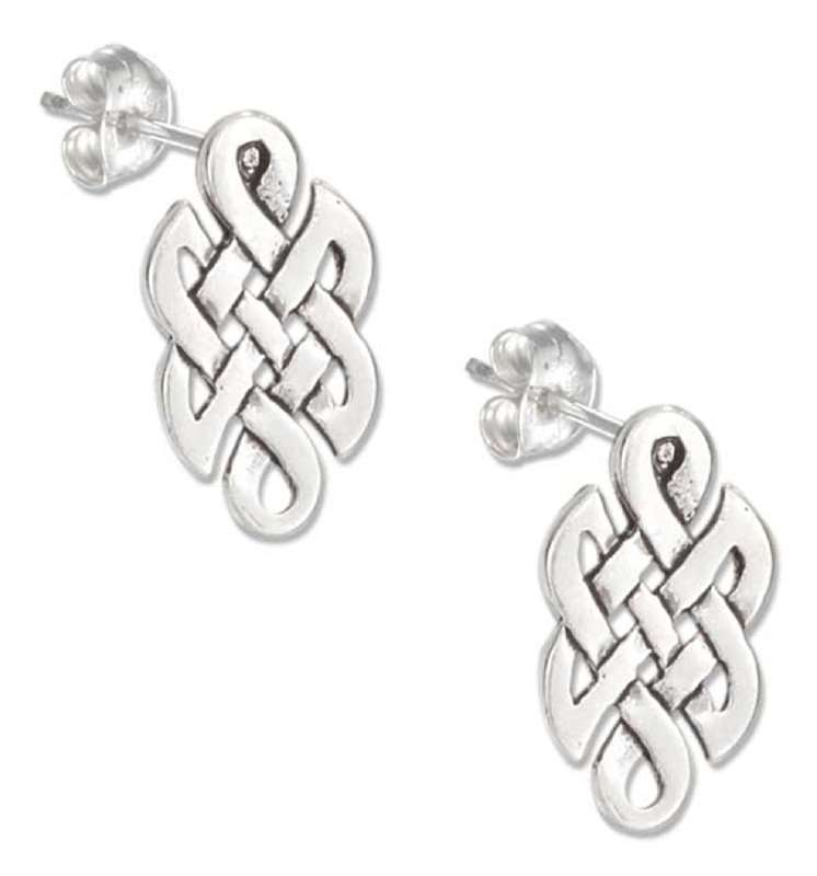 Elongated Celtic Knot Post Earrings