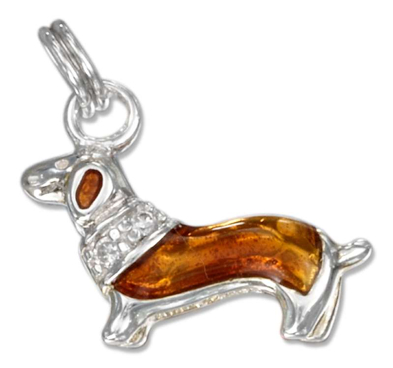 3D Daschund Dog Breed Charm