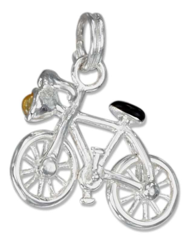 3D Enameled Headlighted Bicycle Charm