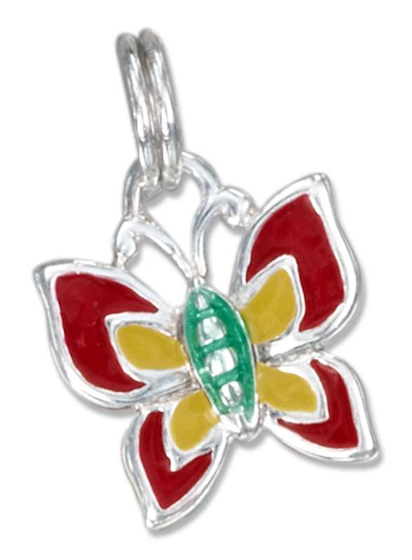 Enameled Butterfly Charm