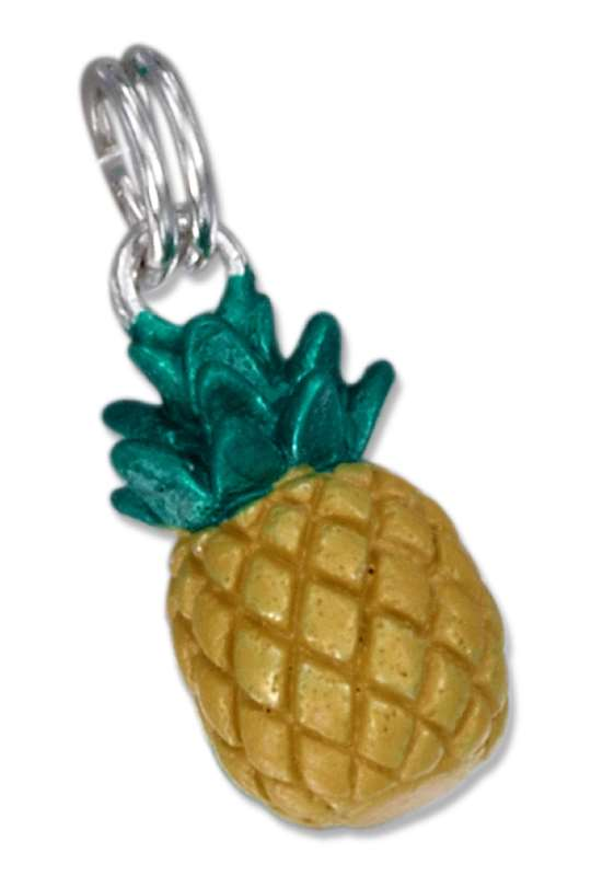 3D Enameled Pineapple Charm