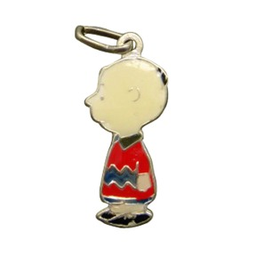 Vintage Peanuts Charlie Brown Full Bodied Enameled Character Charm