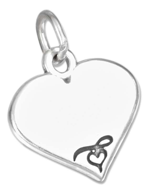 Engraveable Heart Charm