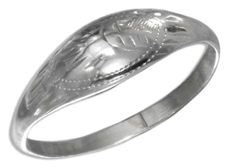 Etched Medium Dome Ring
