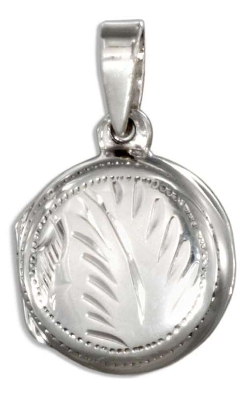Small Etched Two Picture Locket Pendant