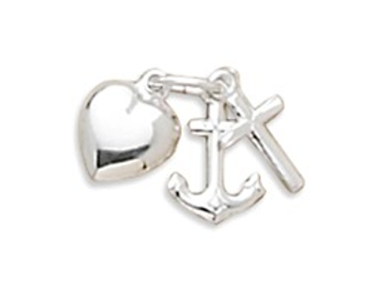 Faith Hope Love Charity Cross Anchor Heart Charm