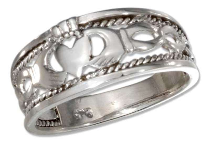 Braided Claddagh Band Ring