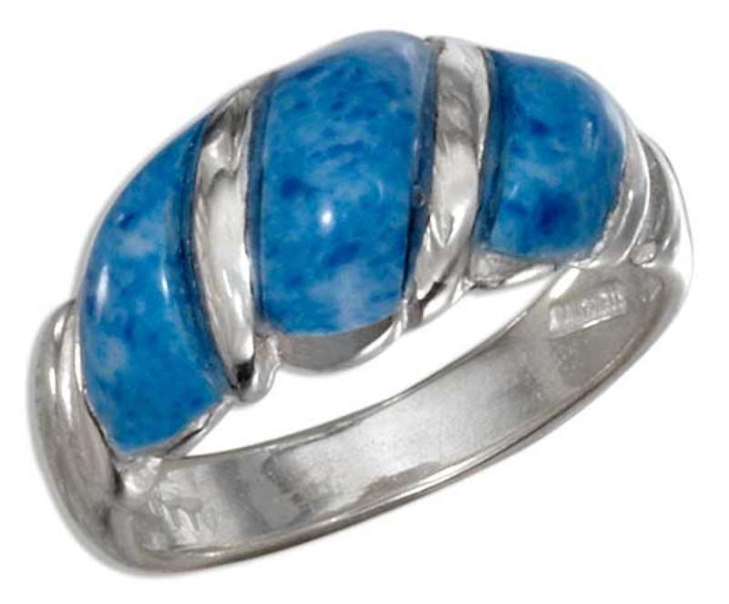 Denim Lapis Shrimp Ring