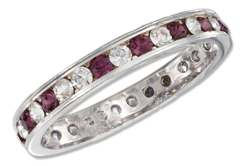 February Birthstone Eternity Ring